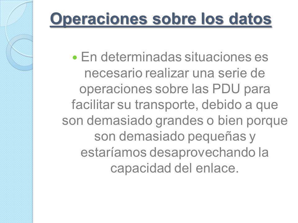 Operaciones sobre los datos