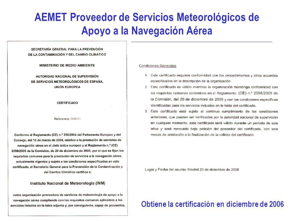 Obtiene la certificación en diciembre de 2006