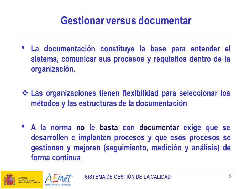 Gestionar versus documentar