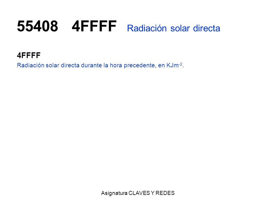55408 4FFFF Radiación solar directa