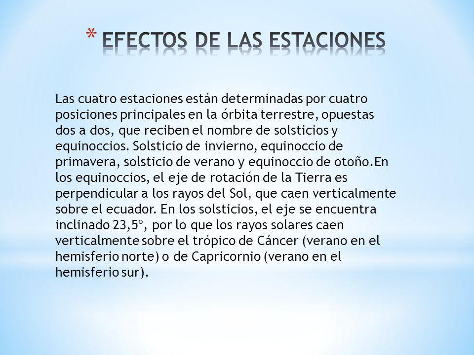 EFECTOS DE LAS ESTACIONES