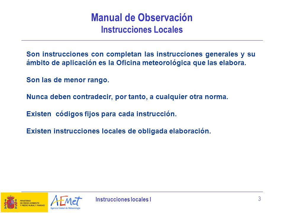 Manual de Observación Instrucciones Locales