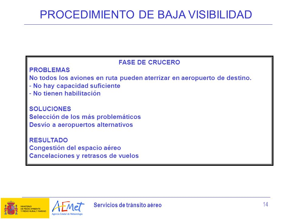 PROCEDIMIENTO DE BAJA VISIBILIDAD