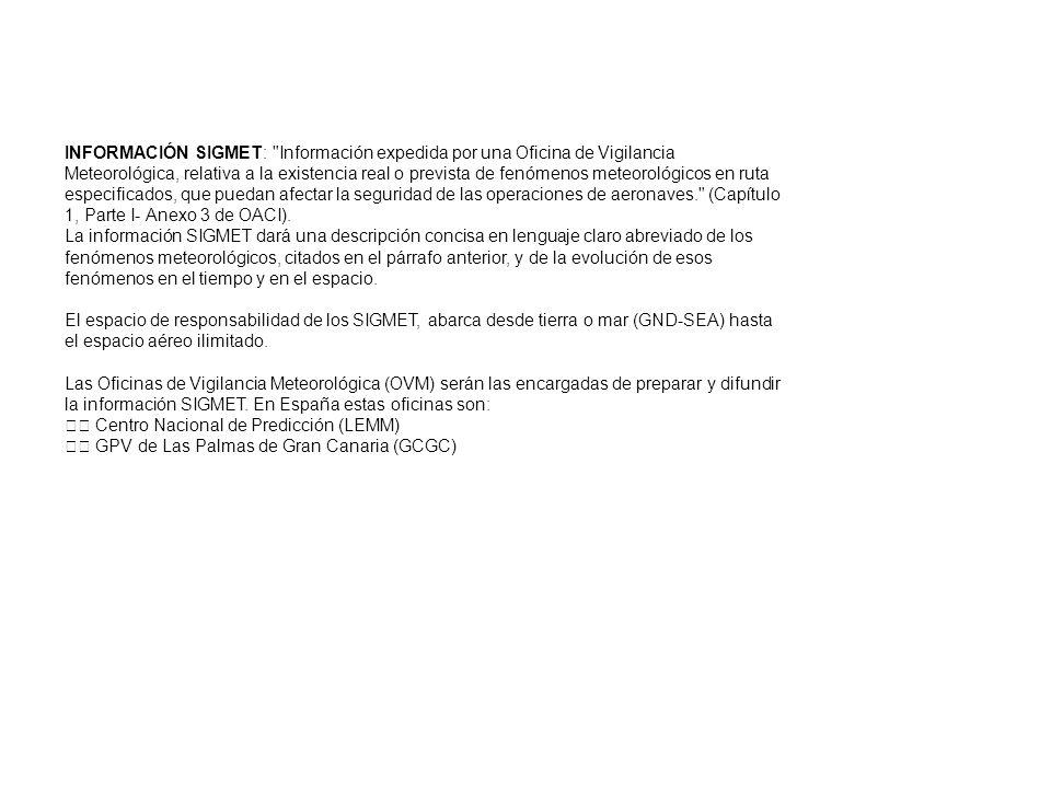 INFORMACIÓN SIGMET: Información expedida por una Oficina de Vigilancia