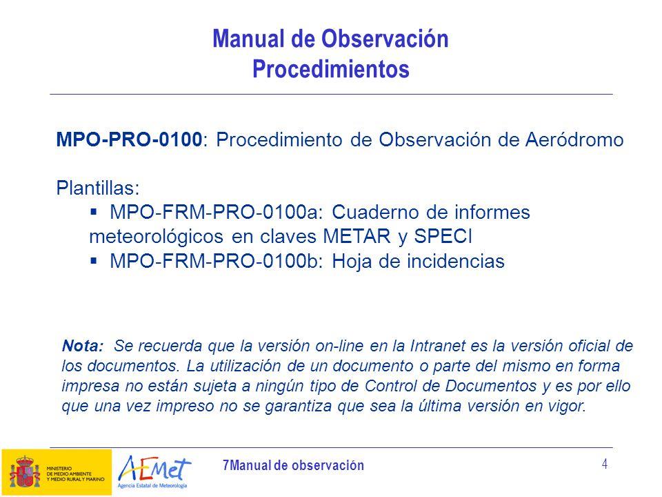 Manual de Observación Procedimientos