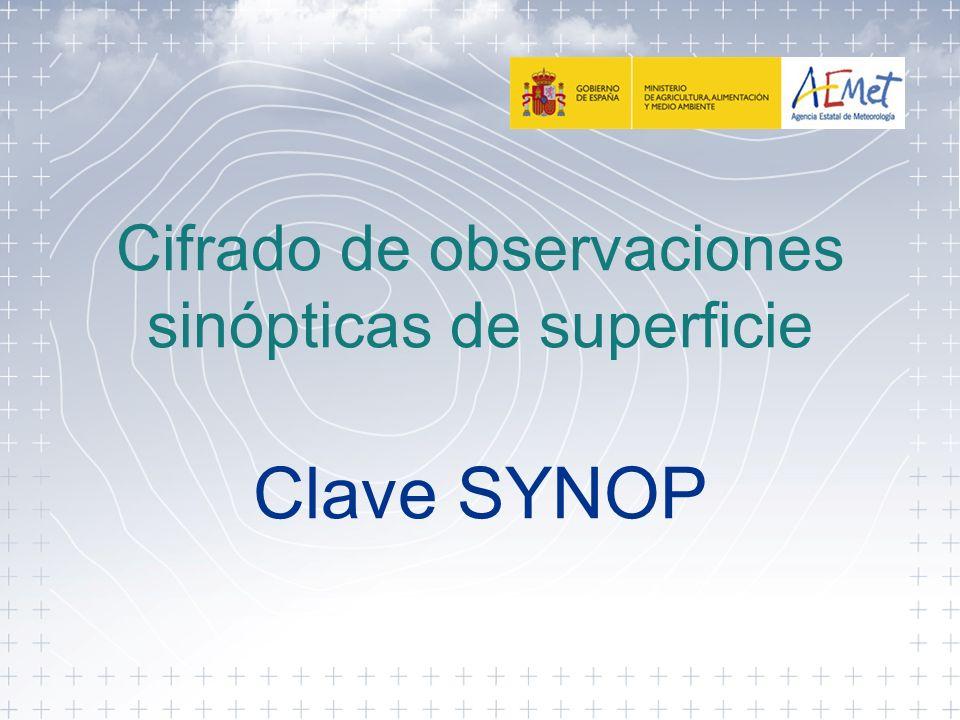 Cifrado de observaciones sinópticas de superficie Clave SYNOP