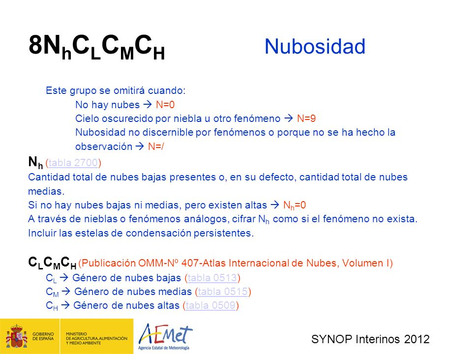 8NhCLCMCH Nubosidad Nh (tabla 2700)