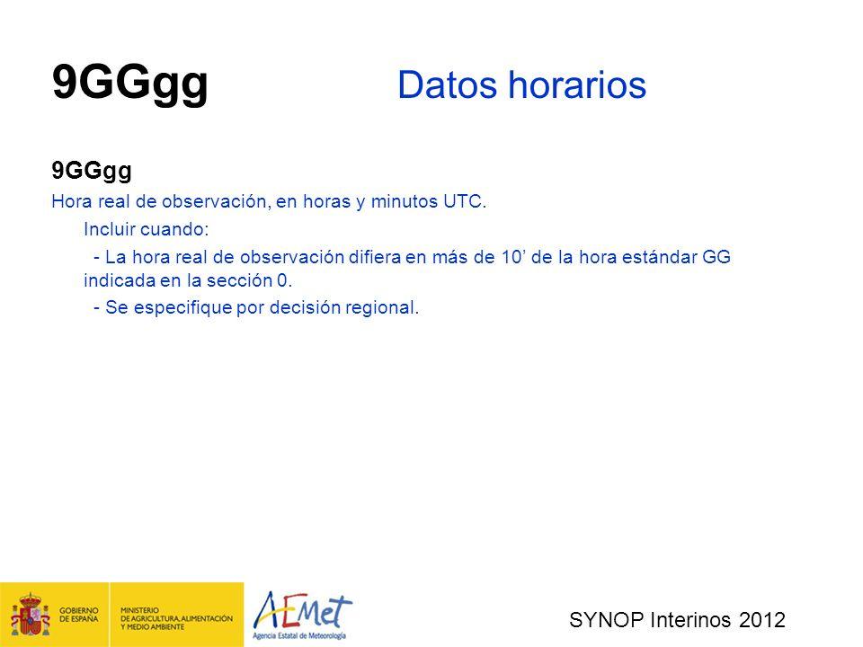 9GGgg Datos horarios 9GGgg SYNOP Interinos 2012