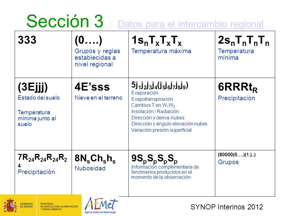 Sección 3 Datos para el intercambio regional