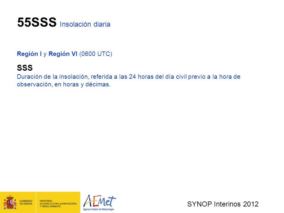 55SSS Insolación diaria SSS SYNOP Interinos 2012