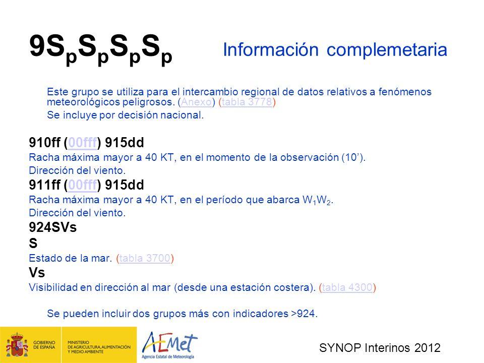9SpSpSpSp Información complemetaria