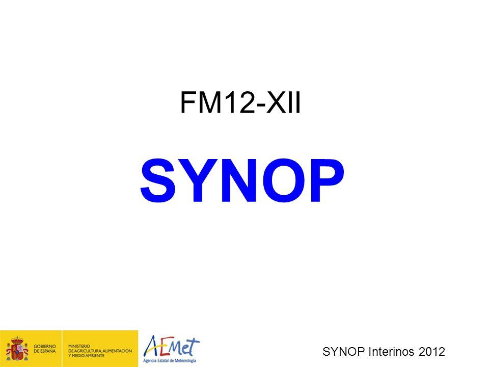 FM12-XII SYNOP SYNOP Interinos 2012