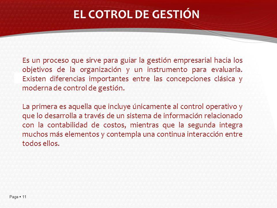 EL COTROL DE GESTIÓN