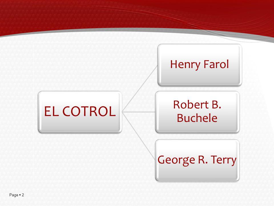 EL COTROL Henry Farol Robert B. Buchele George R. Terry