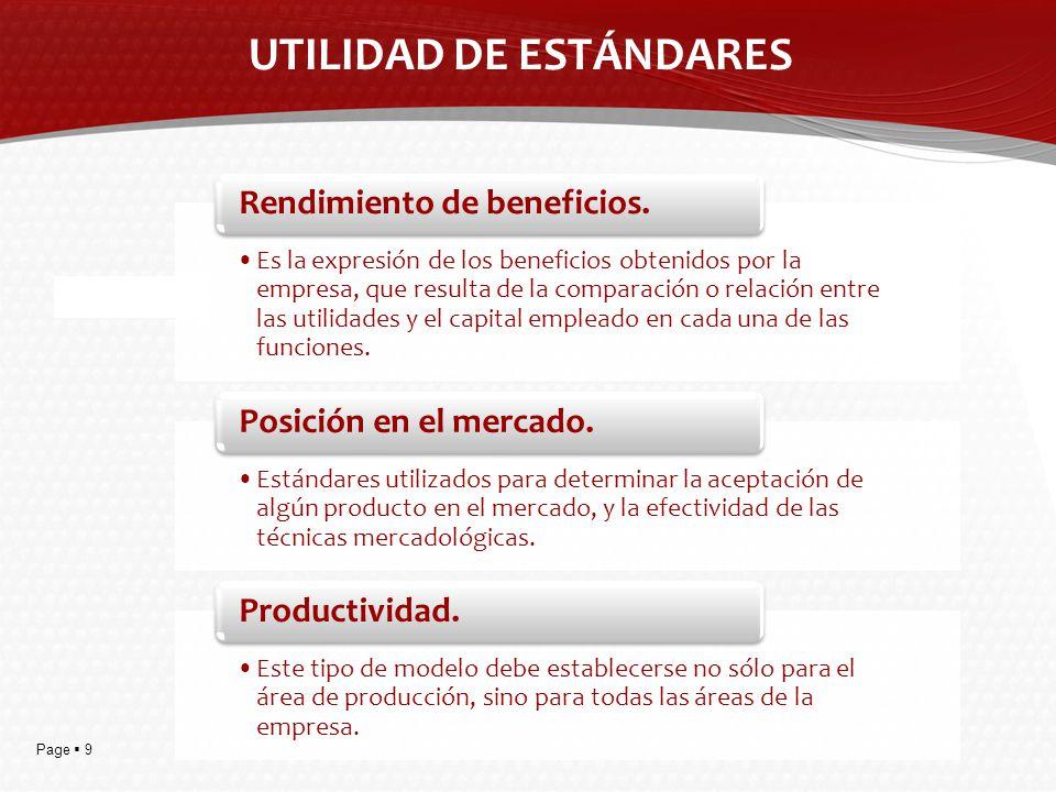 UTILIDAD DE ESTÁNDARES