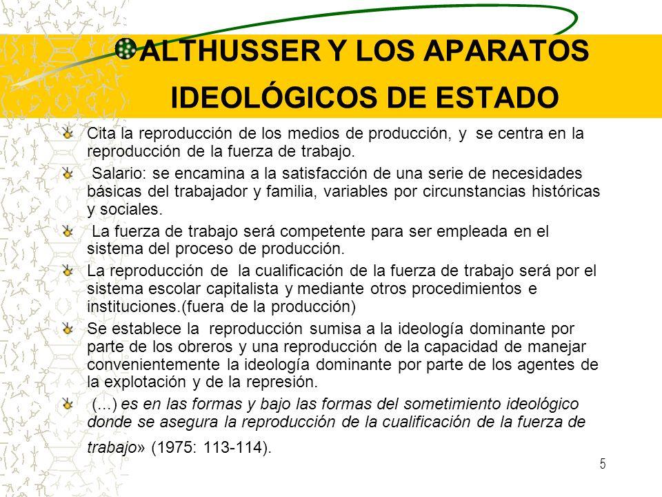 ALTHUSSER Y LOS APARATOS IDEOLÓGICOS DE ESTADO