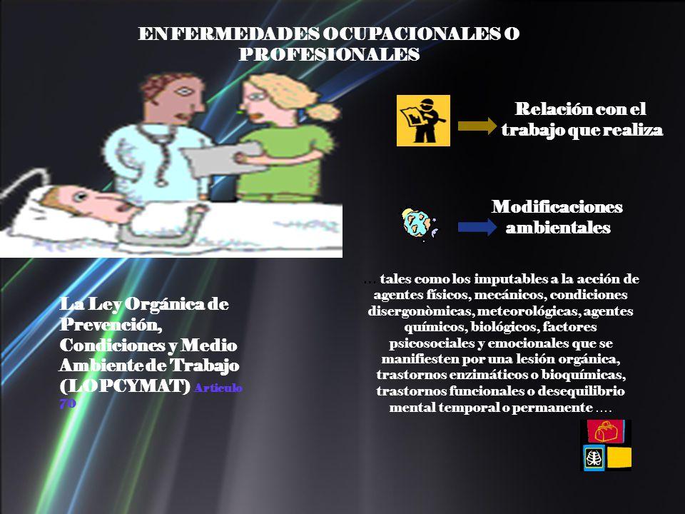 ENFERMEDADES OCUPACIONALES O PROFESIONALES