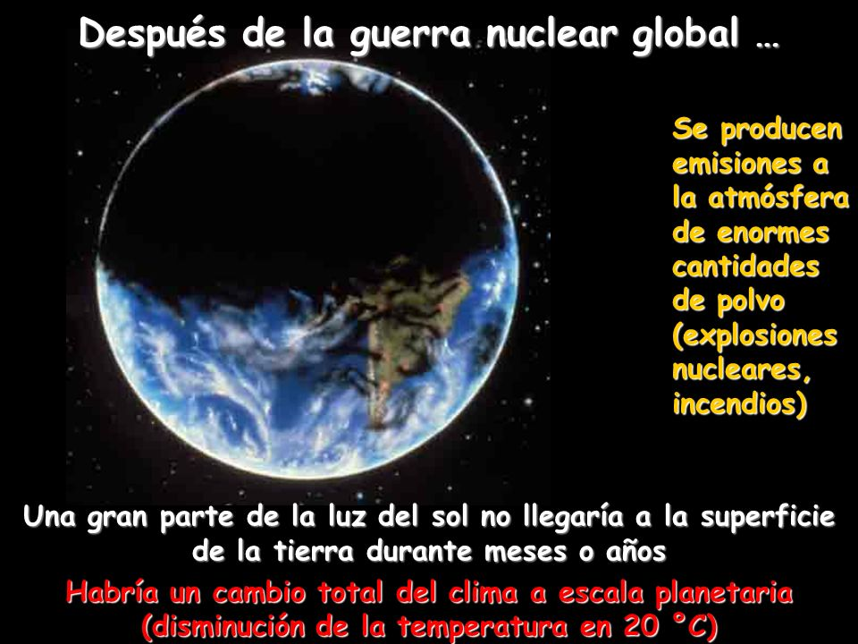 Después de la guerra nuclear global …