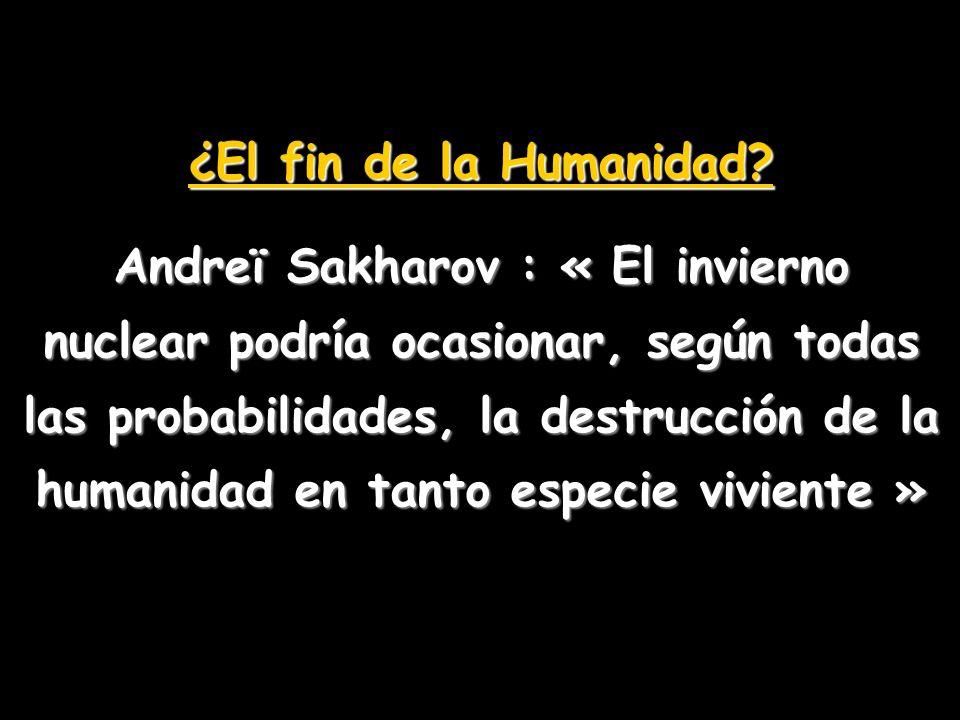 ¿El fin de la Humanidad