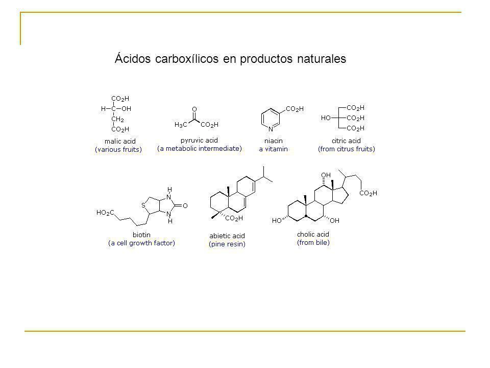 Ácidos carboxílicos en productos naturales