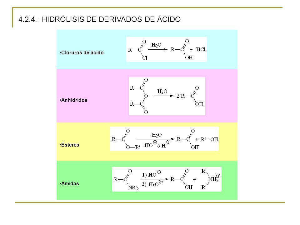 4.2.4.- HIDRÓLISIS DE DERIVADOS DE ÁCIDO