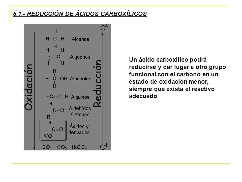 5.1.- REDUCCIÓN DE ÁCIDOS CARBOXÍLICOS