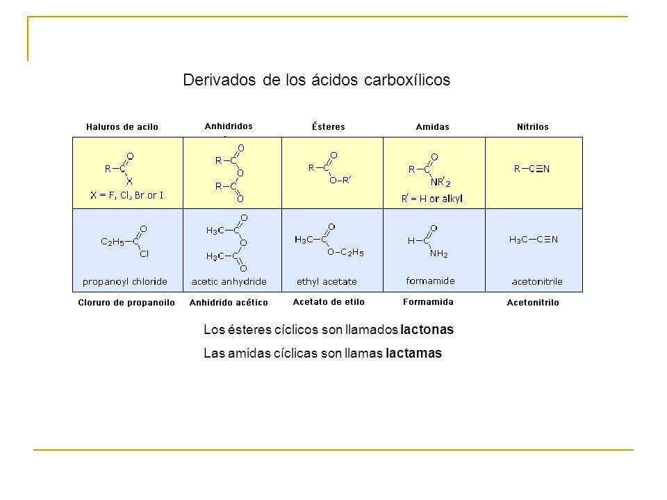 Derivados de los ácidos carboxílicos