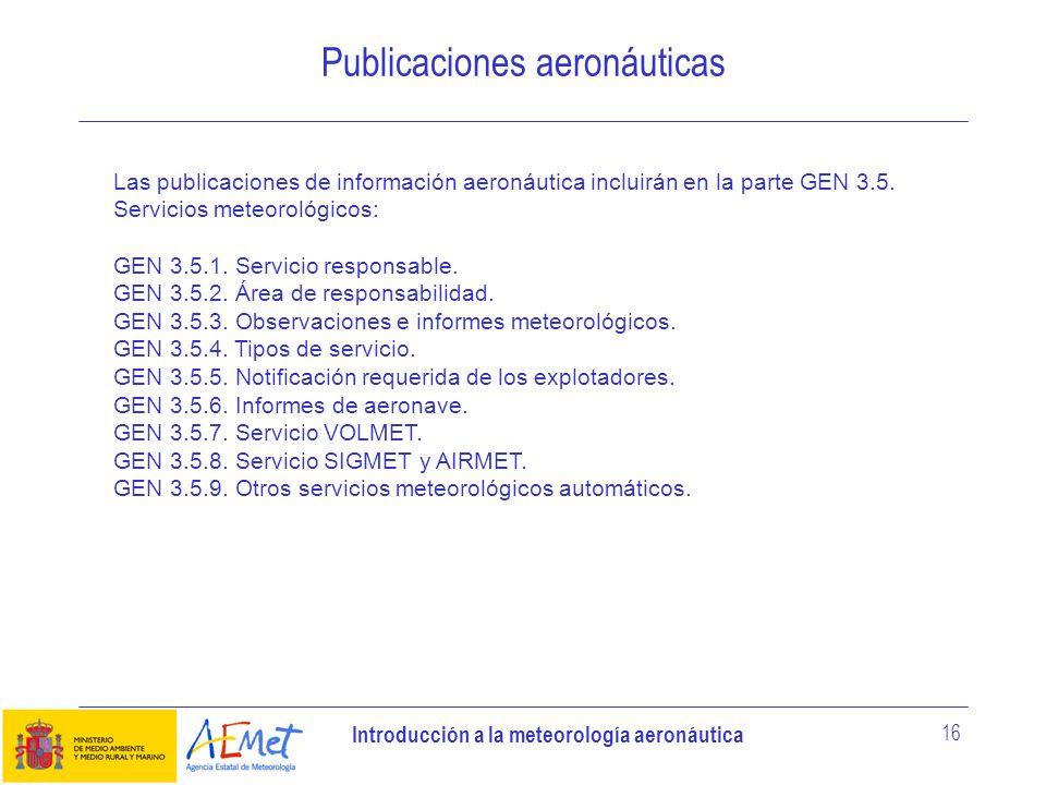 Publicaciones aeronáuticas