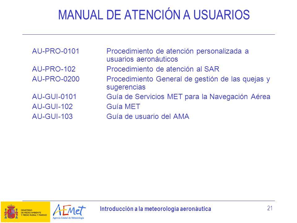 MANUAL DE ATENCIÓN A USUARIOS