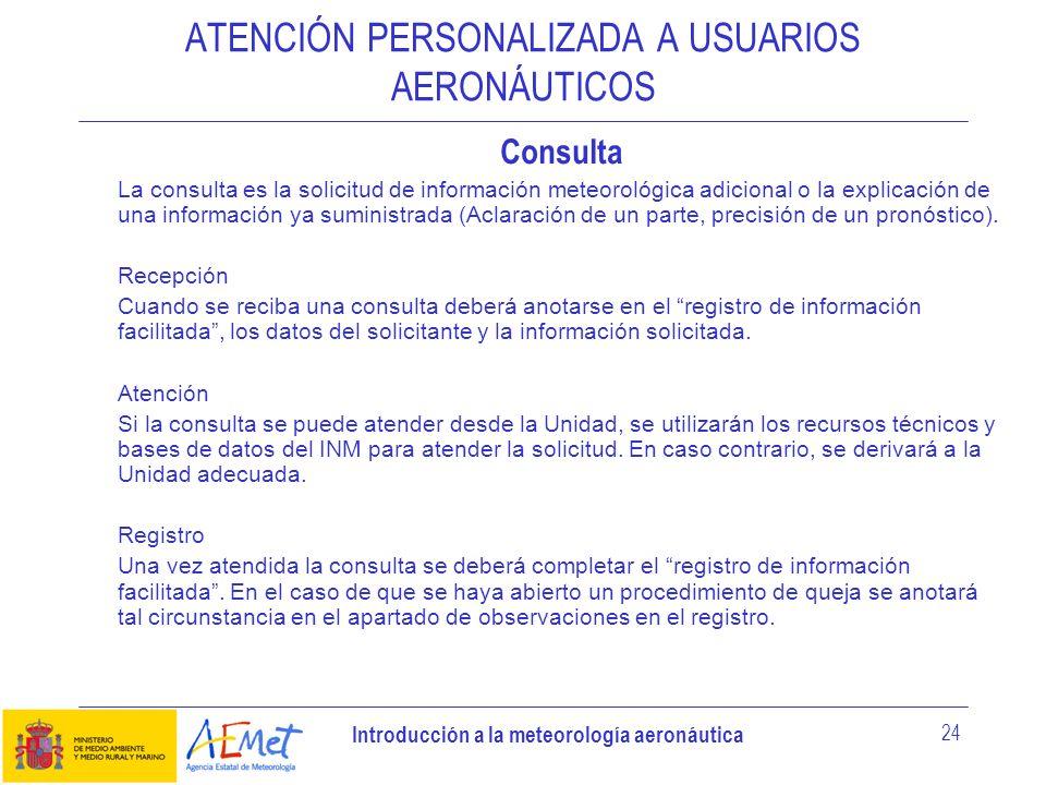 ATENCIÓN PERSONALIZADA A USUARIOS AERONÁUTICOS