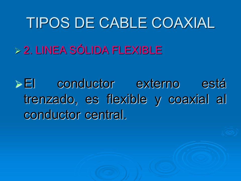 TIPOS DE CABLE COAXIAL 2. LINEA SÓLIDA FLEXIBLE.