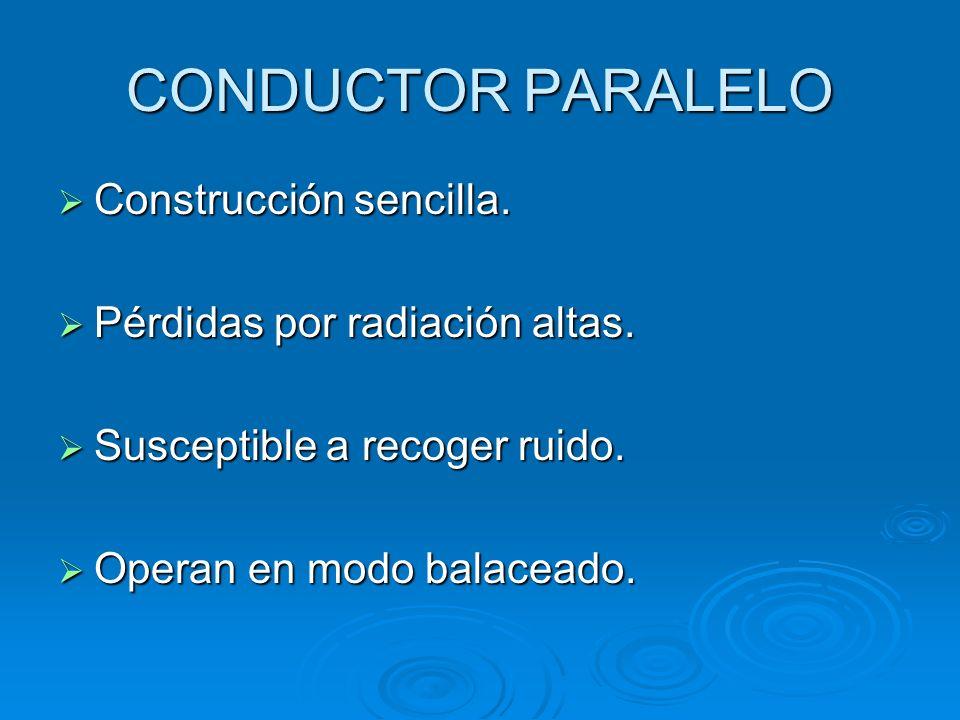 CONDUCTOR PARALELO Construcción sencilla.