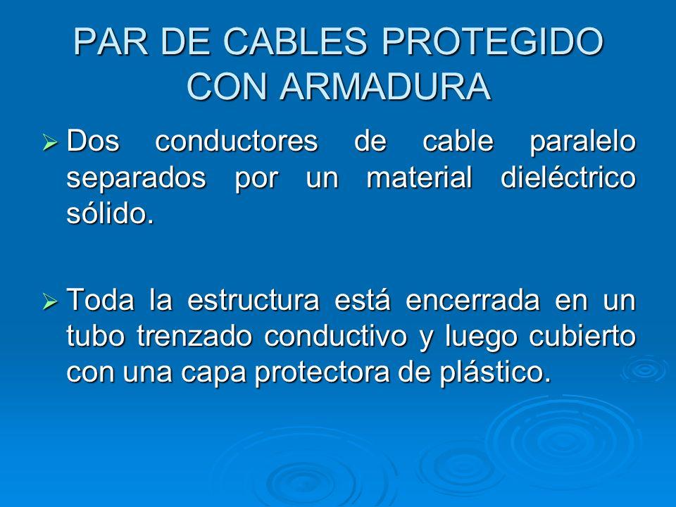 PAR DE CABLES PROTEGIDO CON ARMADURA