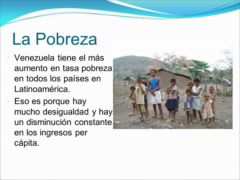La Pobreza Venezuela tiene el más aumento en tasa pobreza en todos los países en Latinoamérica.