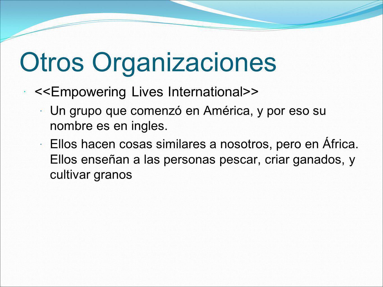 Otros Organizaciones <<Empowering Lives International>>