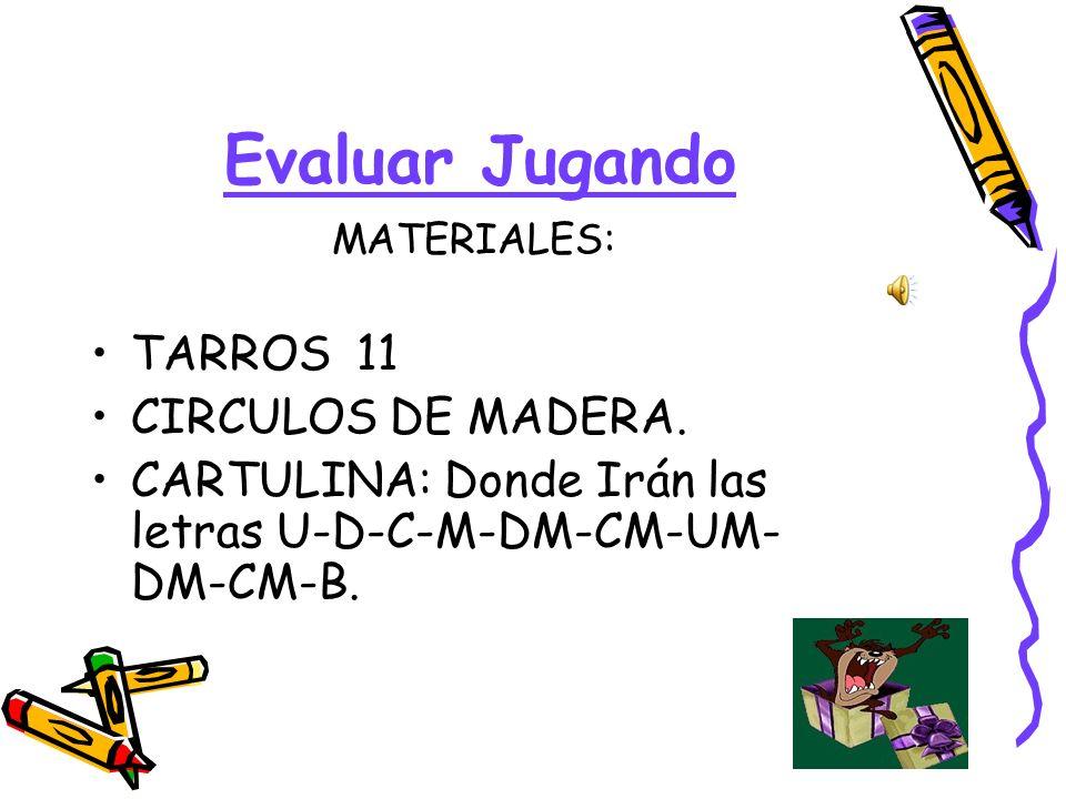Evaluar Jugando TARROS 11 CIRCULOS DE MADERA.