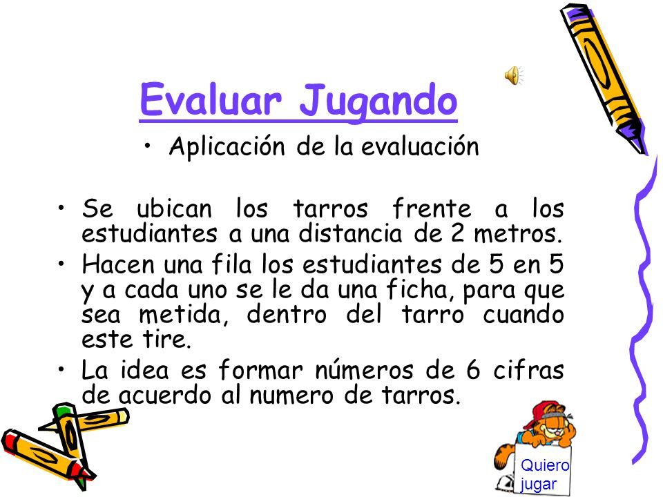 Aplicación de la evaluación