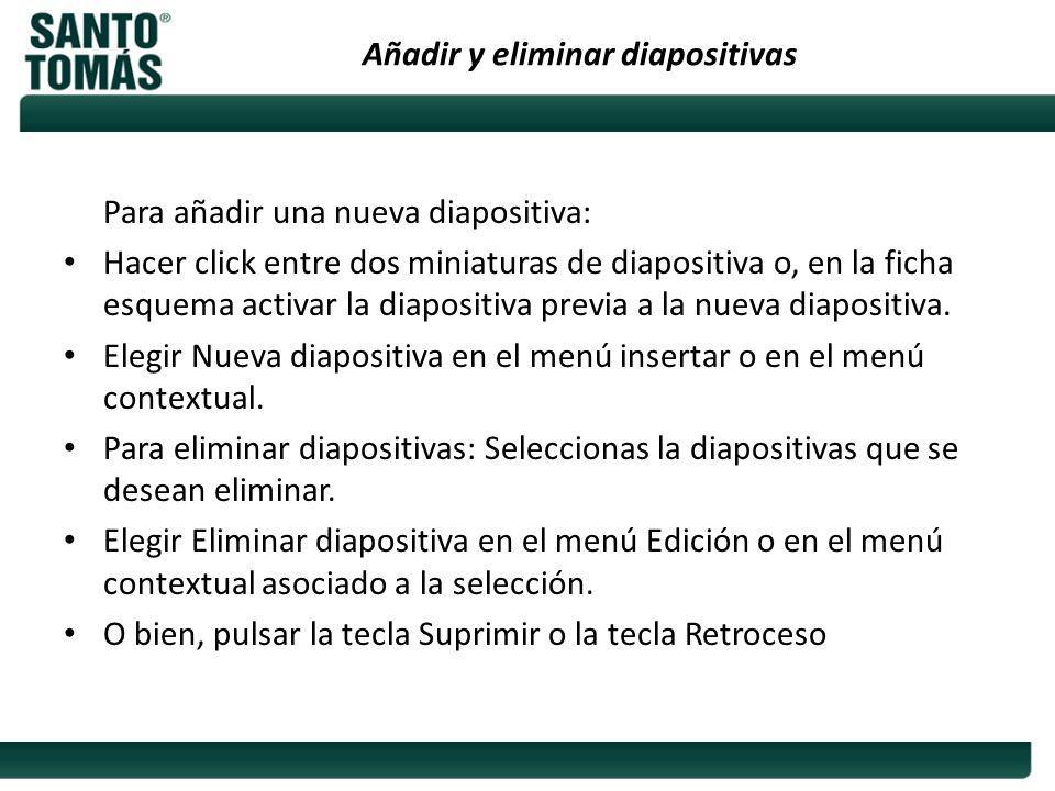 Añadir y eliminar diapositivas
