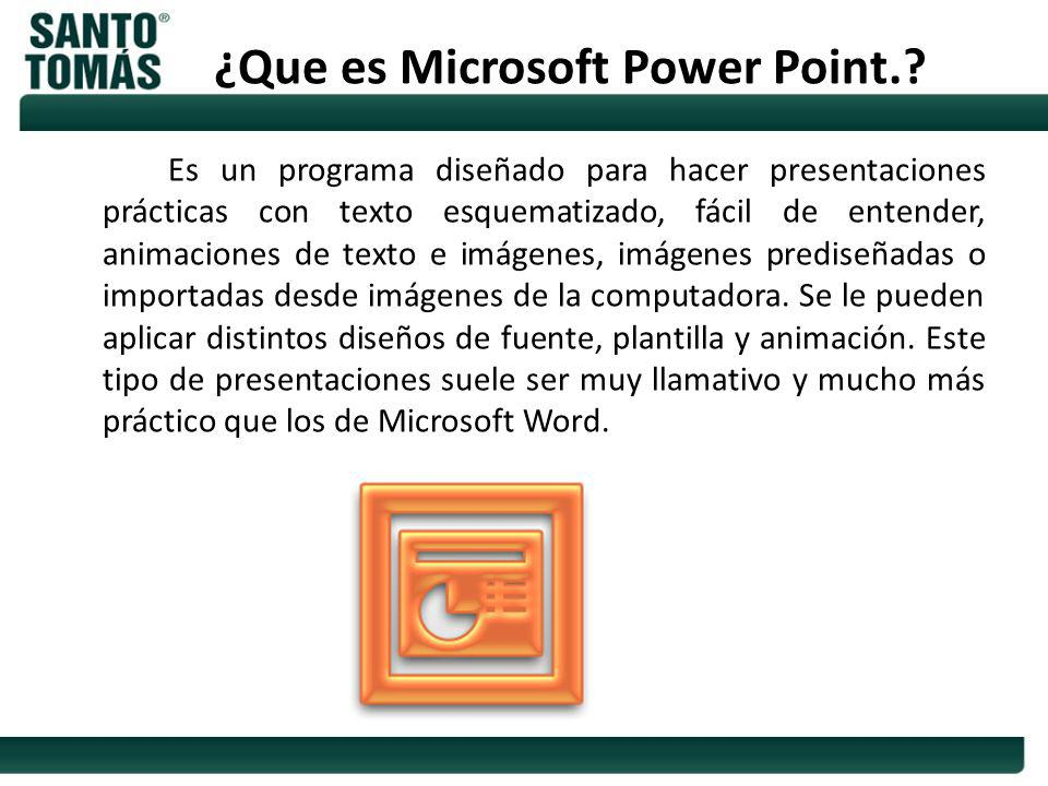 ¿Que es Microsoft Power Point.