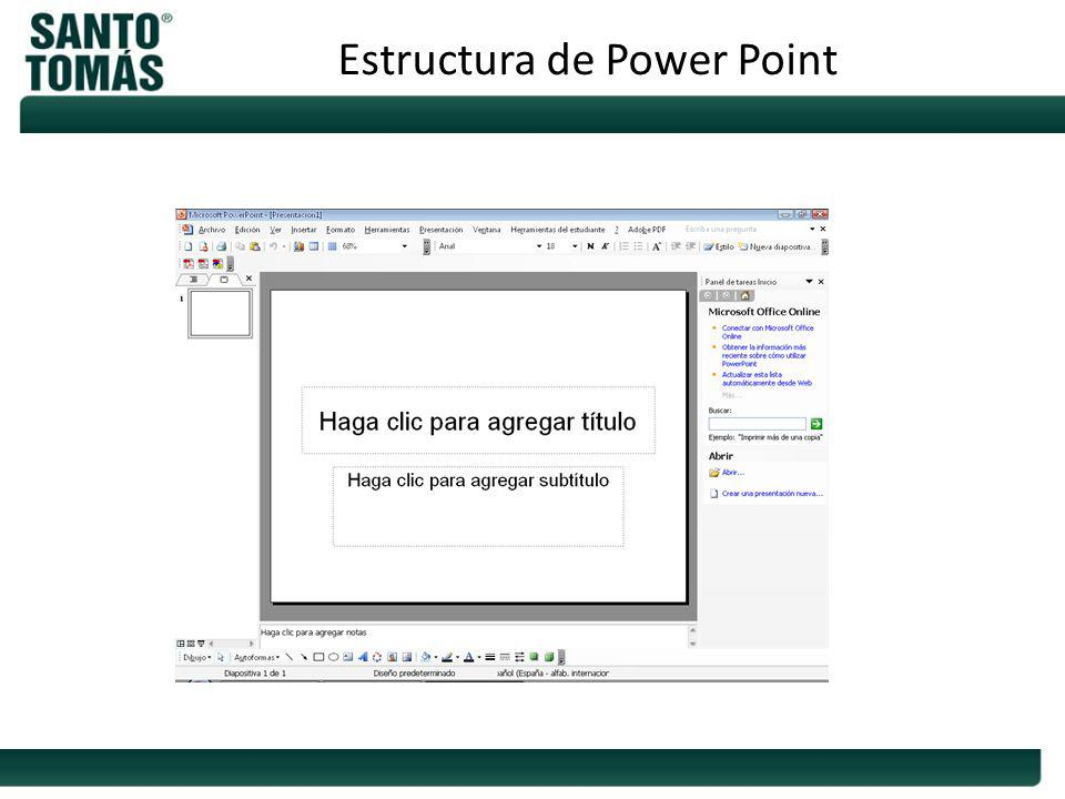 Estructura de Power Point