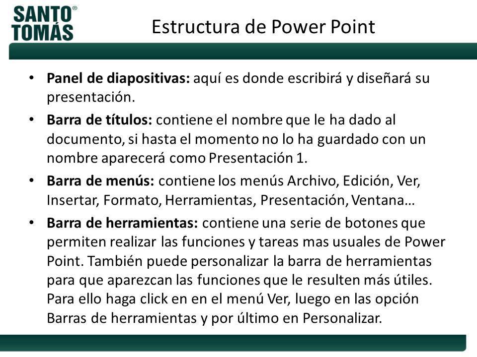 Estructura de Power Point