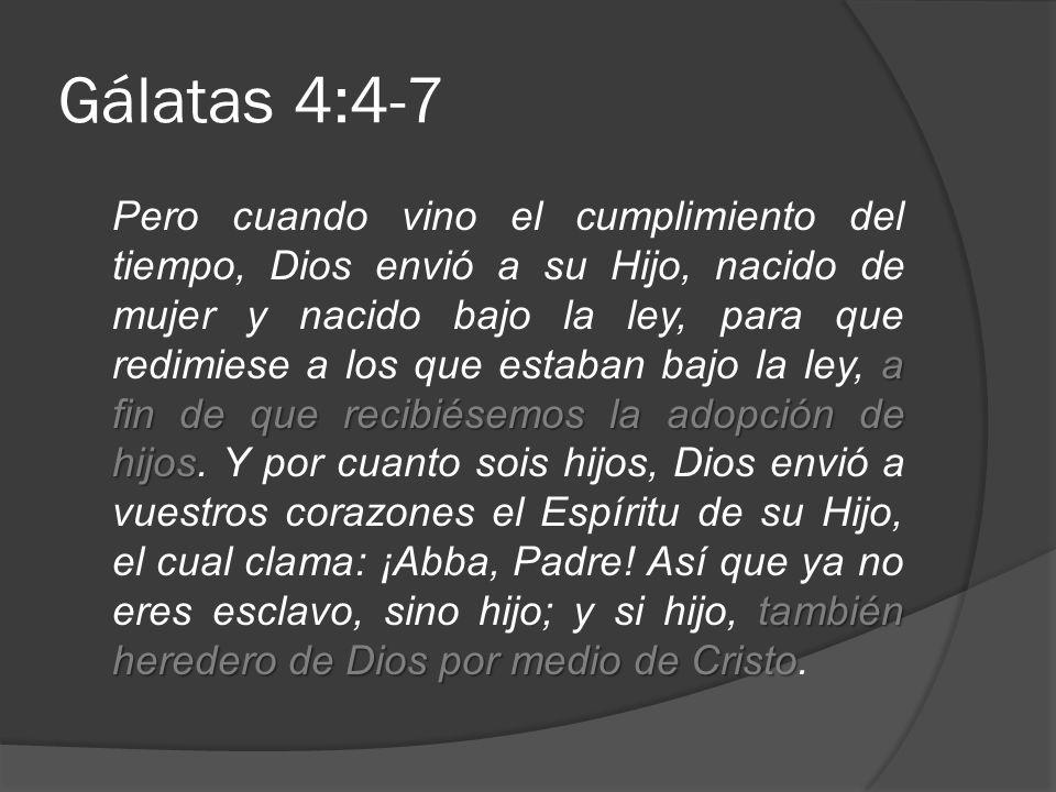 Gálatas 4:4-7