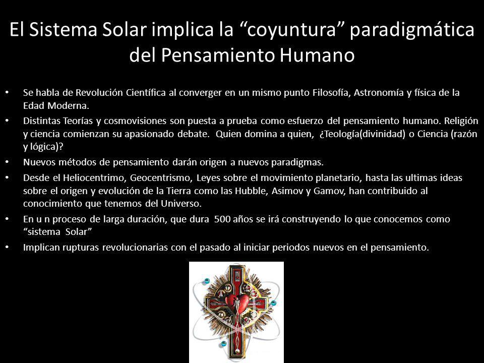 El Sistema Solar implica la coyuntura paradigmática del Pensamiento Humano