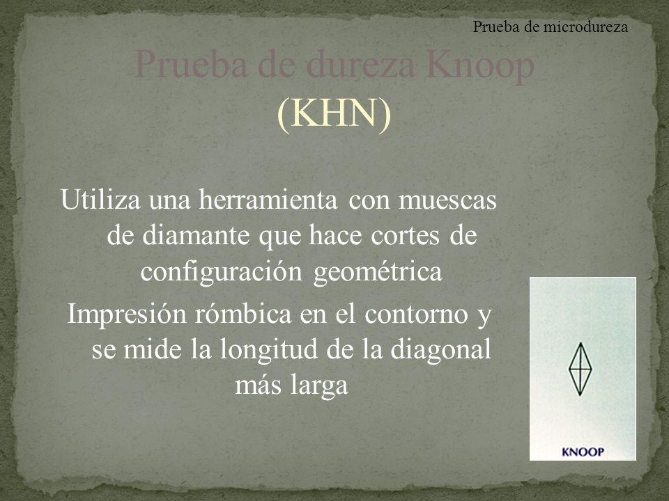 Prueba de dureza Knoop (KHN)