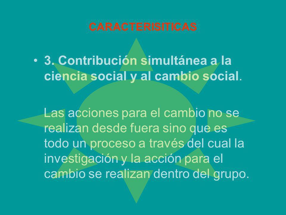 3. Contribución simultánea a la ciencia social y al cambio social.