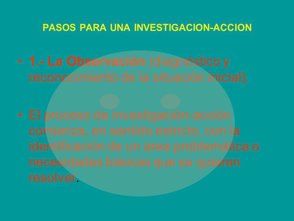 PASOS PARA UNA INVESTIGACION-ACCION