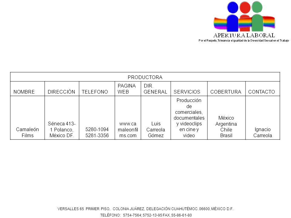 Séneca 413-1 Polanco, México DF. 5280-1094 5281-3356