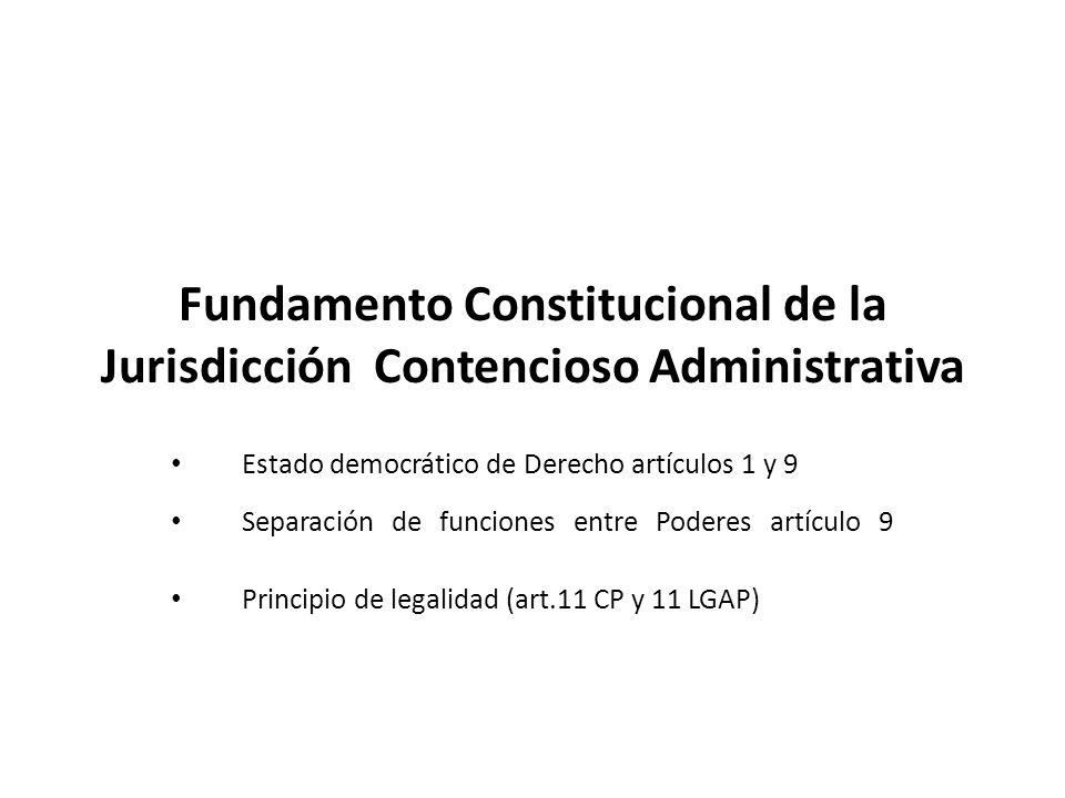 Fundamento Constitucional de la Jurisdicción Contencioso Administrativa