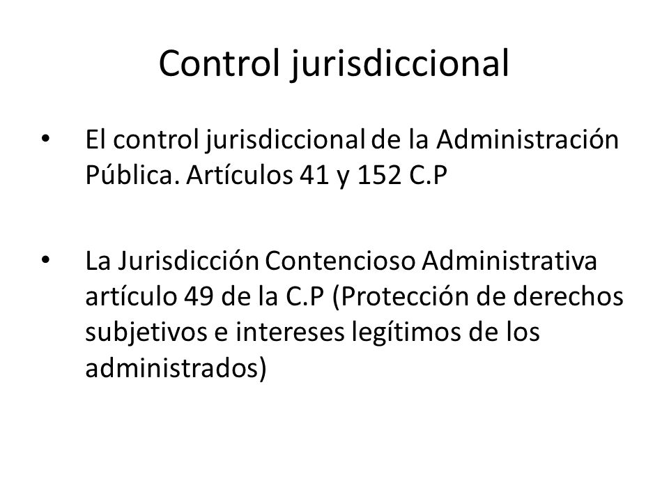 Control jurisdiccional