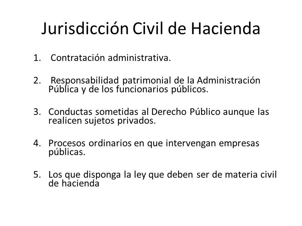 Jurisdicción Civil de Hacienda